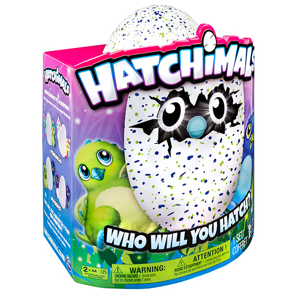 Дракоша - интерактивный питомец, вылупляющийся из яйца Hatchimals 19100-DRAG-GREEN