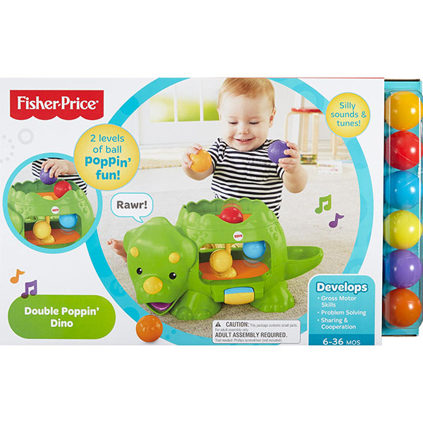 Mattel Fisher-Price Фишер Прайс Динозавр с шариками DHW03