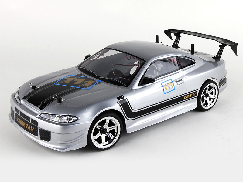 1:10 On-Road Drift car (Carbon) 4WD, Brushless, RTR, 2.4G, Light system REC-0075-02 (BS208T)