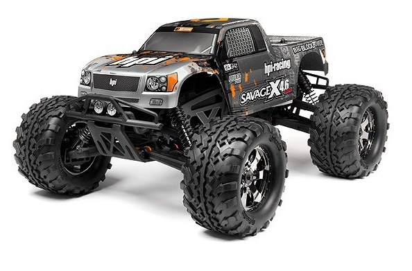 Монстр 1/8 - SAVAGE X 4.6 RTR (SILVER/BLACK) (NEW) HPI-109083