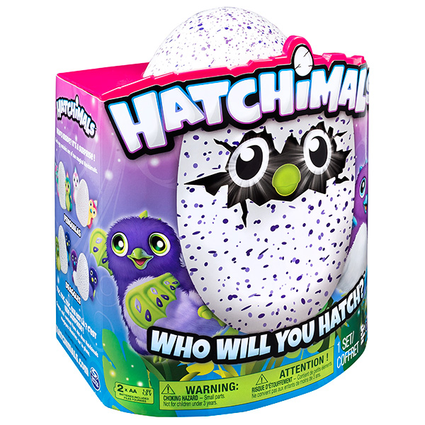 Дракоша - интерактивный питомец, вылупляющийся из яйца Hatchimals 19100-DRAG-PURP