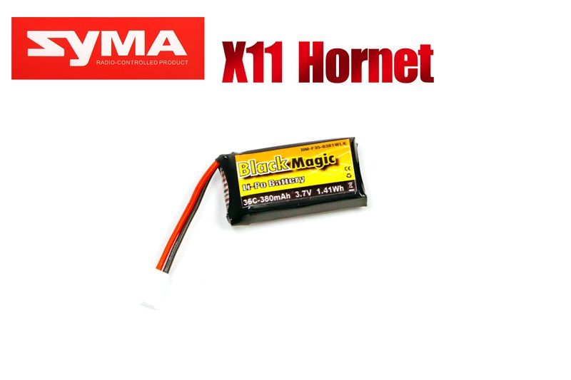 Black Magic 3.7V 380mAh 30C LiPo Molex plug (Syma X11) BM-F35-0381WLK