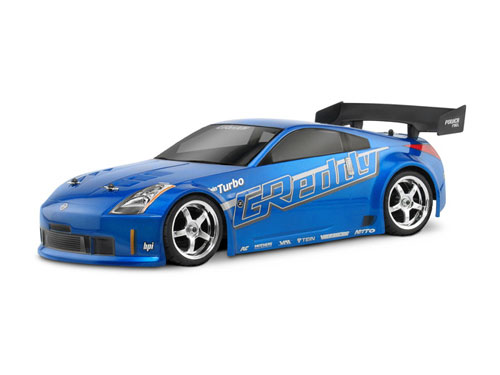 Кузов 1/10 - NISSAN 350Z GREEDY TWIN TURBO (190MM) - некрашеный HPI-17218