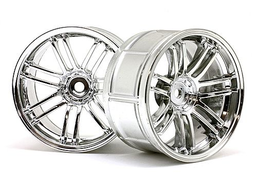 Диски колес 1/10 - LP29 RAYS VOLK RACING RE30 CHROME (2шт) 3mm OffSet HPI-3340