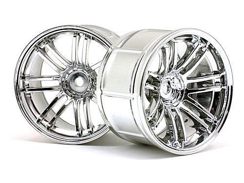 Диски туринг 1/10 - LP35  RAYS VOLK RACING RE30 CHROME (9mm OffSet) 2шт HPI-3342