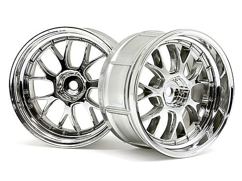 Диски туринг 1/10 - LP32 LM-R CHROME (6mm offset) 2шт HPI-33460