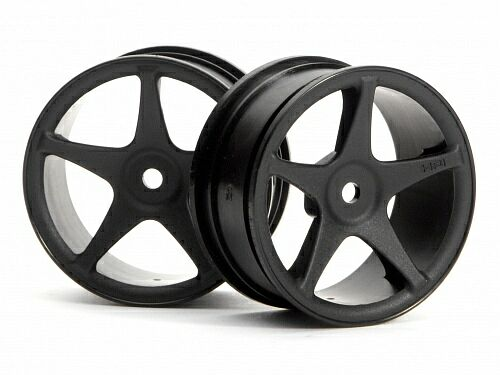Диски туринг 1/10 - SUPER STAR  26mm BLACK (1MM OFFSET) 2шт HPI-3696