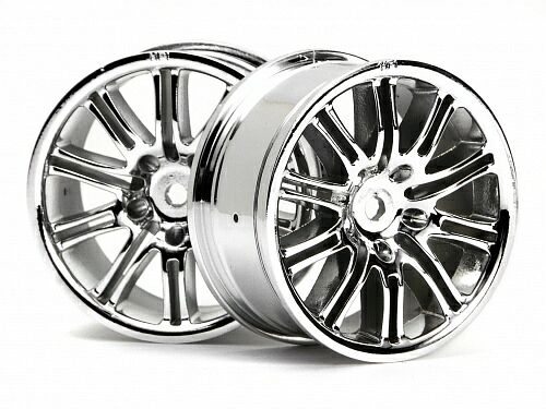 Диски 1/10 - 10 SPOKE MOTOR SPORT 26MM CHROME (2шт) HPI-3772