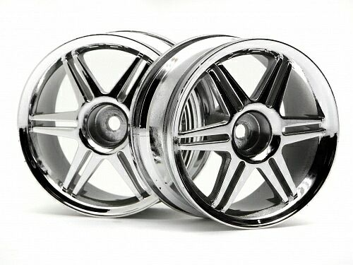 Диски 1/10 - (12 спиц CORSA CHROME 26MM / вынос 3MM) 2шт HPI-3802