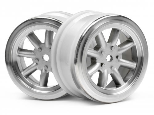 Диски 1/10 - VINTAGE 8 SPOKE 26mm MATTE CHROME / 0mm OFFSET (2шт) HPI-3808