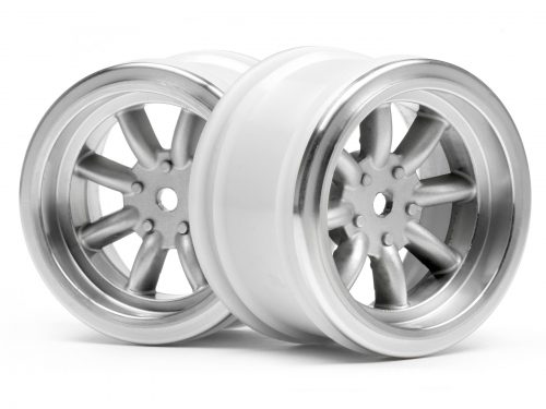 Диски 1/10 - VINTAGE 8 SPOKE 31mm MATTE CHROME / 6mm OFFSET (2шт) HPI-3813