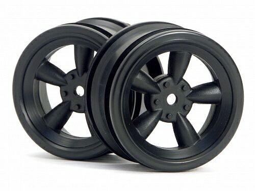 Диски 1/10 - VINTAGE 5 SPOKE 26MM BLACK (0MM OFFSET) 2шт HPI-3816