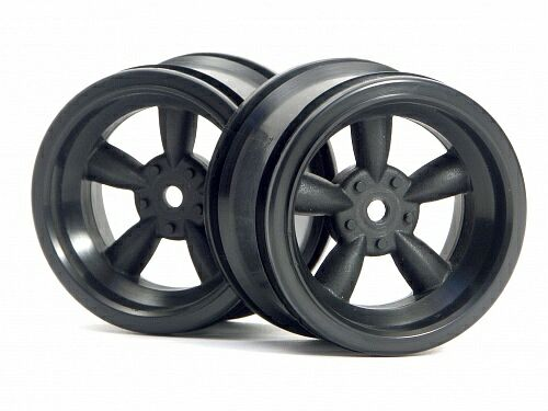 Диски 1/10 - VINTAGE 5 SPOKE 31MM (WIDE) BLACK (6MM OFFSET) 2шт HPI-3821