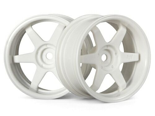 Диски туринг 1/10 - TE37 26MM WHITE (6MM OFFSET) 2шт HPI-3845