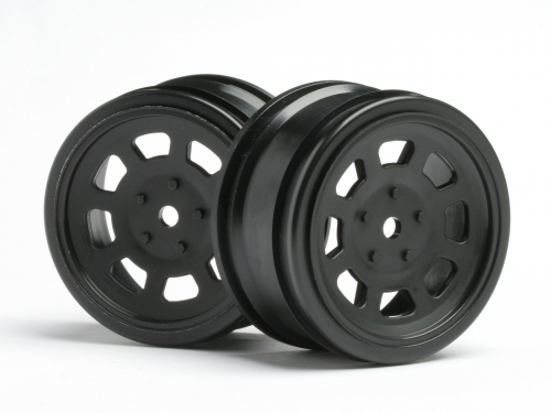Диски туринг 1/10 - VINTAGE STOCK CAR 26mm Black (0mm OFFSET) 2шт HPI-3854