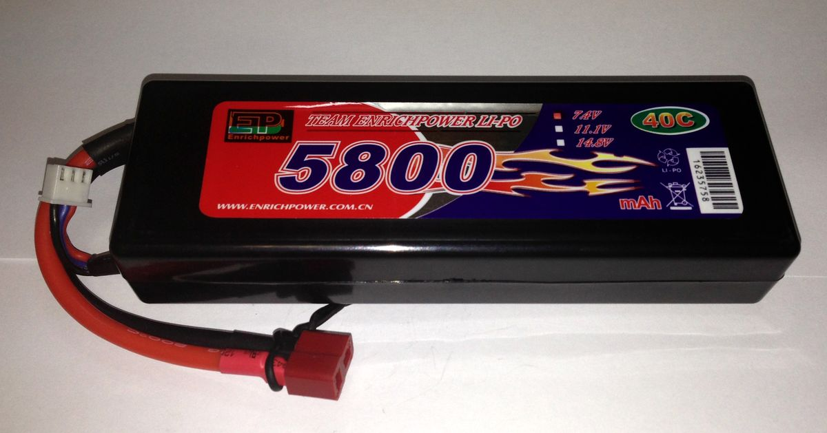 Аккумулятор Li-po High Power 7.4V 2S 5800mAh 40C / DEANS EP58002S40