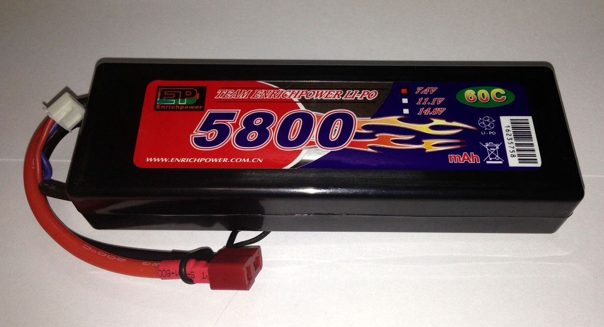 Аккумулятор Li-po High Power 7.4V 2S 5800mAh 60C / DEANS EP58002S60