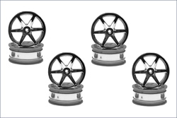 KYOSHO запчасти Wheel6-Spoke/24mm/Chrome Plated/8Pcs AGH001-8SM