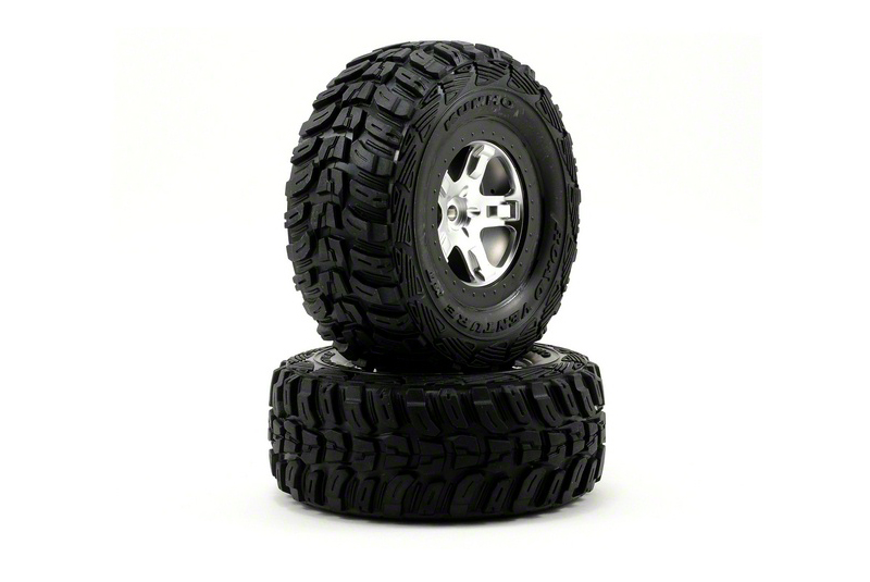 TRAXXAS запчасти Tires  wheels, assembled, glued (SCT satin chrome, beadlock style wheels, Kumho tires, foam ins TRA5880X