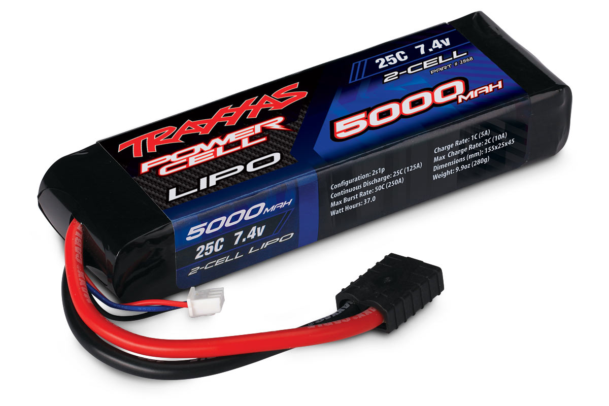 TRAXXAS запчасти 5000mAh 7.4v 2-cell 25C LiPO Battery TRA2868