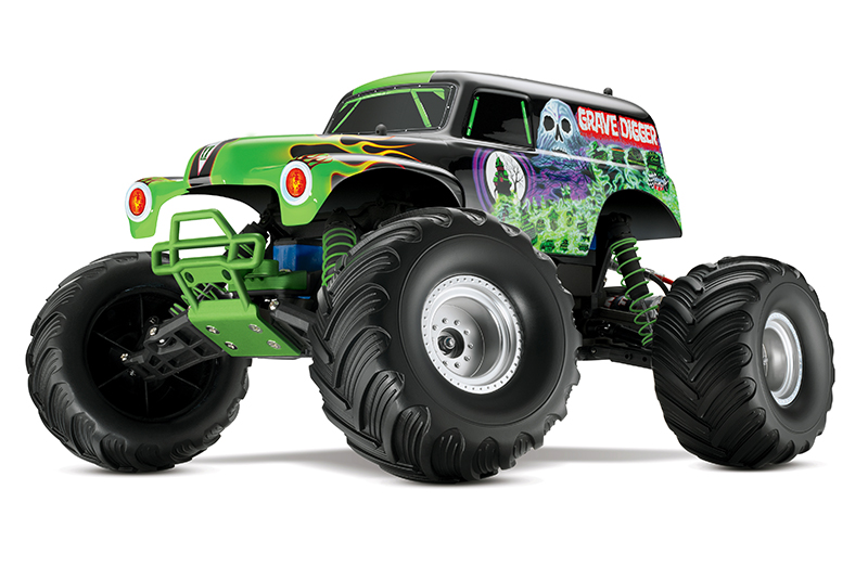 Монстр TRAXXAS 1/10 EP 2WD Grave Digger 2.4GHz RTR TRA3604A