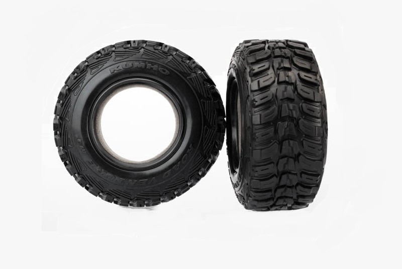 TRAXXAS запчасти Tires, Kumho, ultra-soft (S1 off-road racing compound) (dual profile 4.3x1.7- 2.2/3.0'') ( TRA6870R