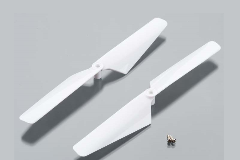 TRAXXAS запчасти Rotor blade set, white (2)/ 1.6x5mm BCS (2) TRA6627