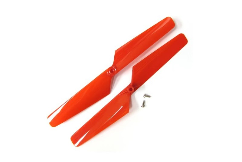 TRAXXAS запчасти Rotor blade set, red (2)/ 1.6x5mm BCS (2) TRA6628