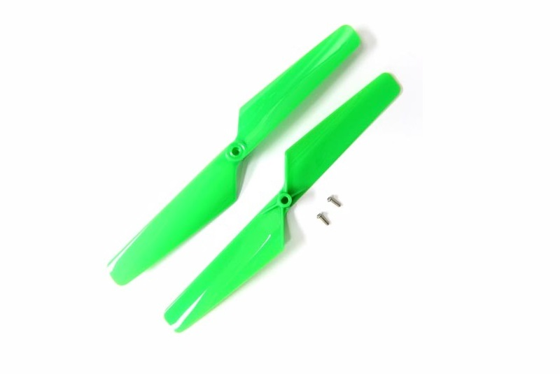 TRAXXAS запчасти Rotor blade set, green (2)/ 1.6x5mm BCS (2) TRA6631