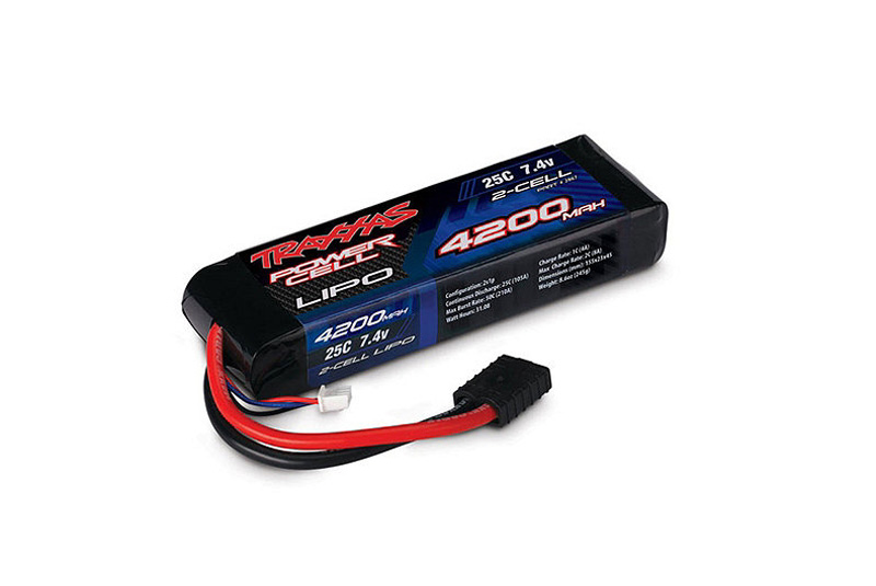 TRAXXAS запчасти 4200mAh 7.4v 2-cell 25C LiPO Battery TRA2867