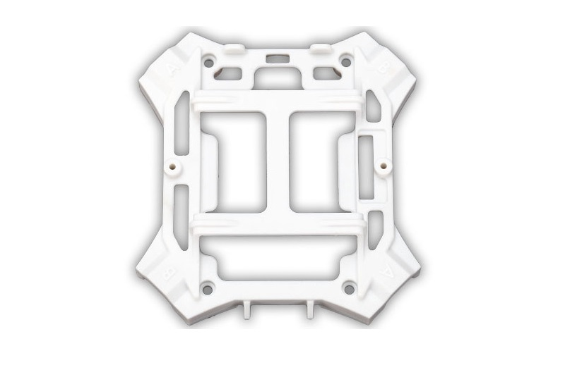 TRAXXAS запчасти Traxxas Main Frame with Screws Lower White LaTrax Alias TRA6624A