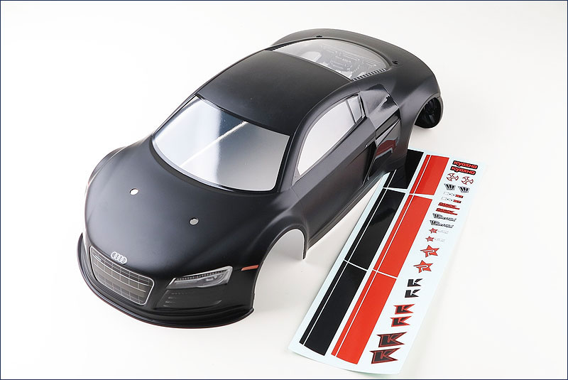 KYOSHO запчасти KYOSHO PRE-PAINTED BODY SHELL AUDI R8 1/10 FAZER VE-X FAB105