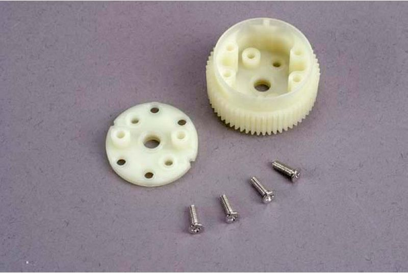 TRAXXAS запчасти Main diff gear w/side cover plate  screws TRA2381