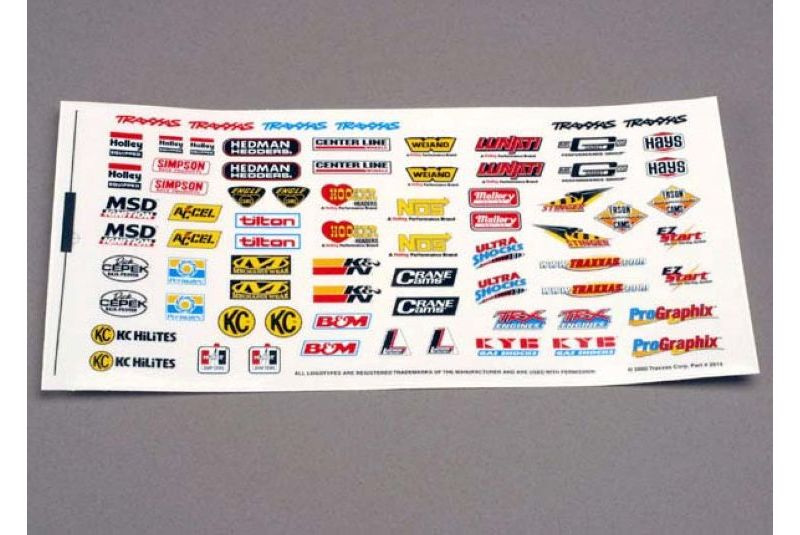 TRAXXAS запчасти Decal sheet, racing sponsors TRA2514