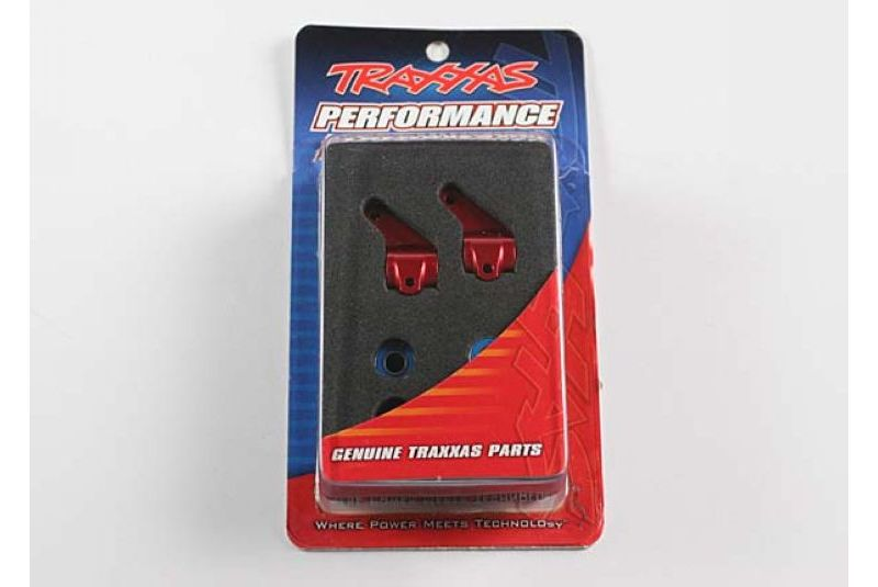TRAXXAS запчасти Steering blocks, Rustler/Stampede/Bandit (2), 6061-T6 aluminum (red-anodized)/ 5x11mm ball bearings  TRA3636X