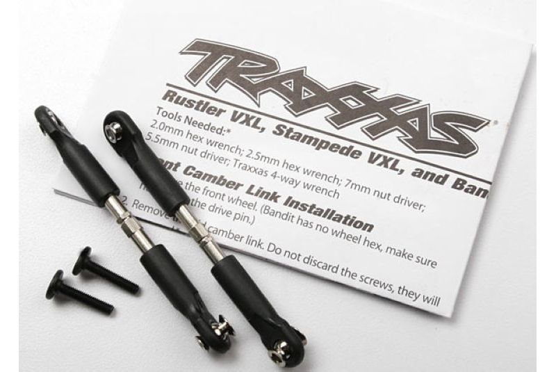 TRAXXAS запчасти Turnbuckles, camber link, 39mm (69mm center to center) (assembled with rod ends and hollow balls) (1 TRA3644