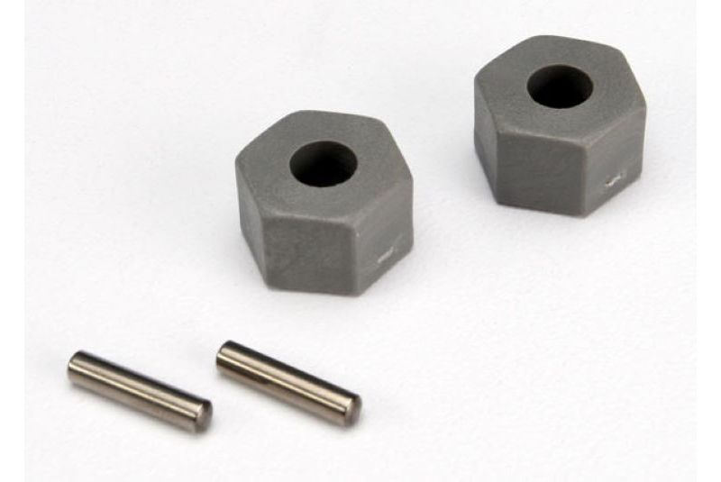 TRAXXAS запчасти Wheel hubs, hex (tall offset, Rustler/Stampede front) (2)/ axle pins (2.5x10mm) (2) TRA3654