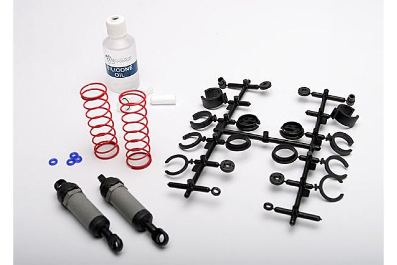 TRAXXAS запчасти Ultra Shocks (grey) (long) (complete w/ spring pre-load spacers  springs) (2) TRA3760A