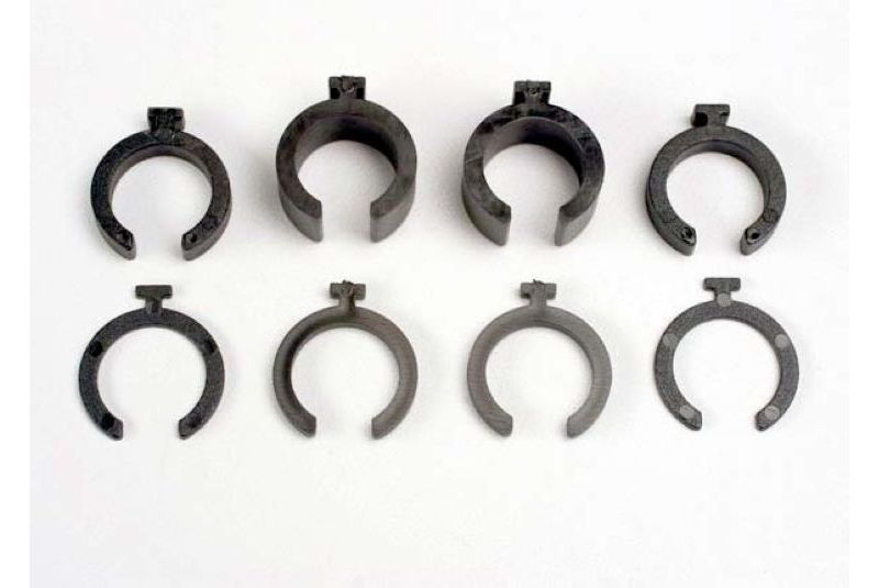 TRAXXAS запчасти Spring pre-load spacers: 1mm (4)/ 2mm (2)/ 4mm (2)/ 8mm (2) TRA3769