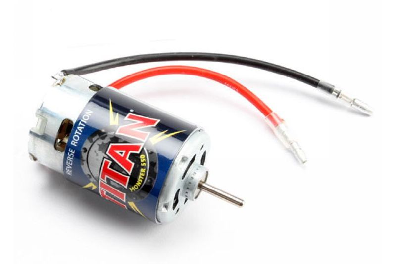 TRAXXAS запчасти Motor, Titan 550, reverse rotation (21-turns/ 14 volts) (1) TRA3975R