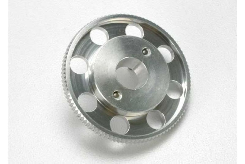 Flywheel, (larger, knurled for use with starter boxes) (TRX 2.5 and TRX 2.5R) (silver anodized) TRA4142X
