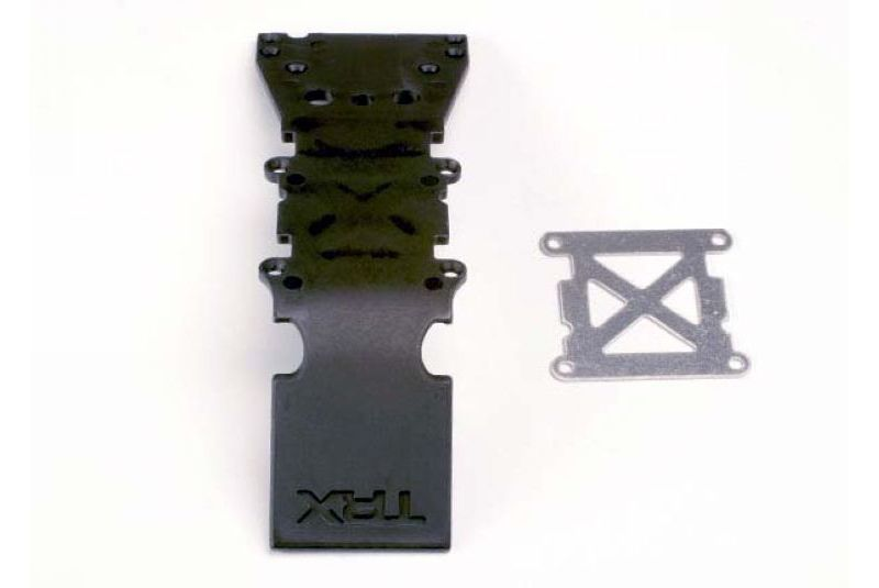 TRAXXAS запчасти Skidplate, front plastic (black)/ stainless steel plate TRA4937