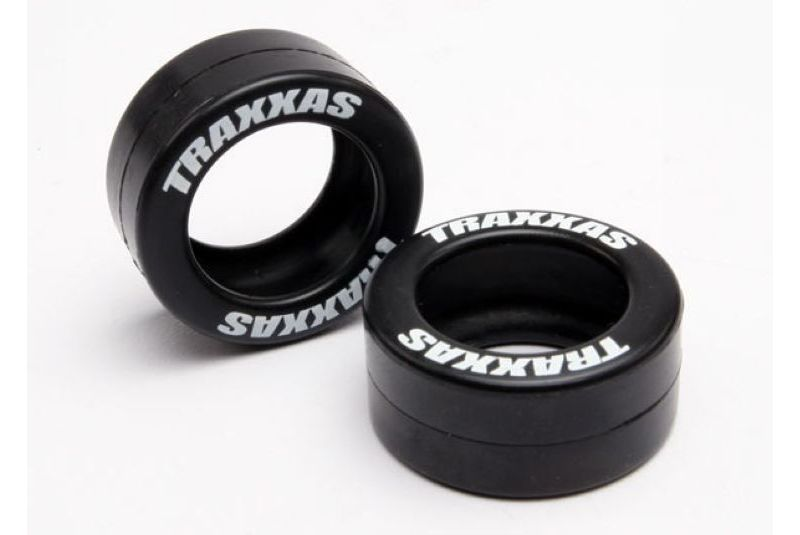 TRAXXAS запчасти Tires, rubber (2) (fits Traxxas wheelie bar wheels) TRA5185