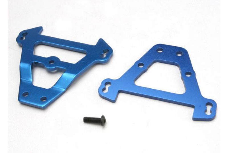 TRAXXAS запчасти Bulkhead tie bars, front  rear (blue-anodized aluminum) TRA5323