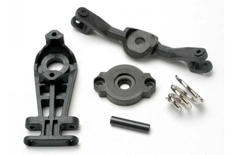 TRAXXAS запчасти Steering arm (upper  lower)/ servo saver/ servo saver spring/ steering arm shaft TRA5344