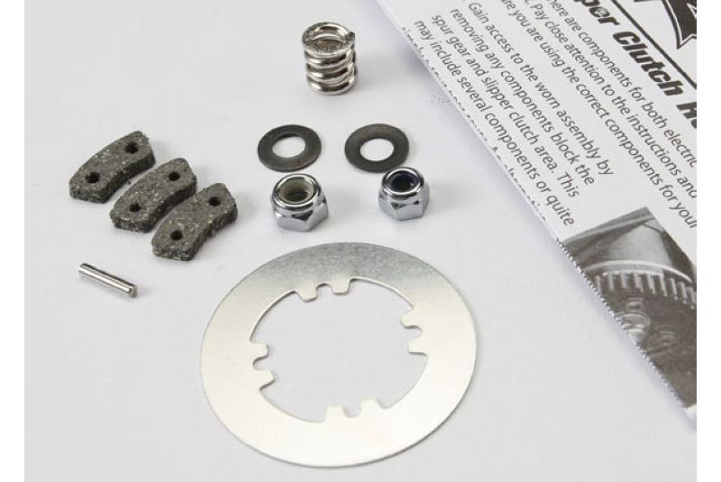 TRAXXAS запчасти Rebuild kit, slipper clutch (steel disc/ friction pads (3)/ spring (2)/ 2x9.8mm pin/ 5x8mm MW/ 5.0mm TRA5352X