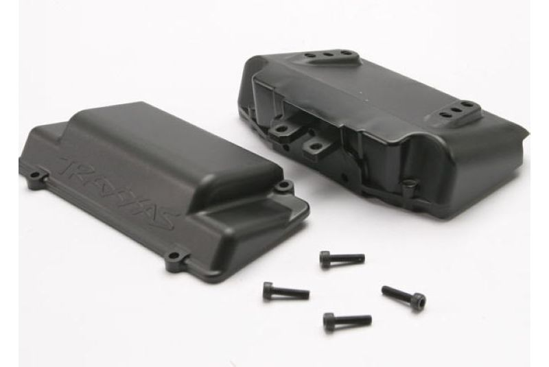 TRAXXAS запчасти Battery Box, bumper (rear) (includes battery case with bosses for wheelie bar, cover, and foam pad) TRA5515X