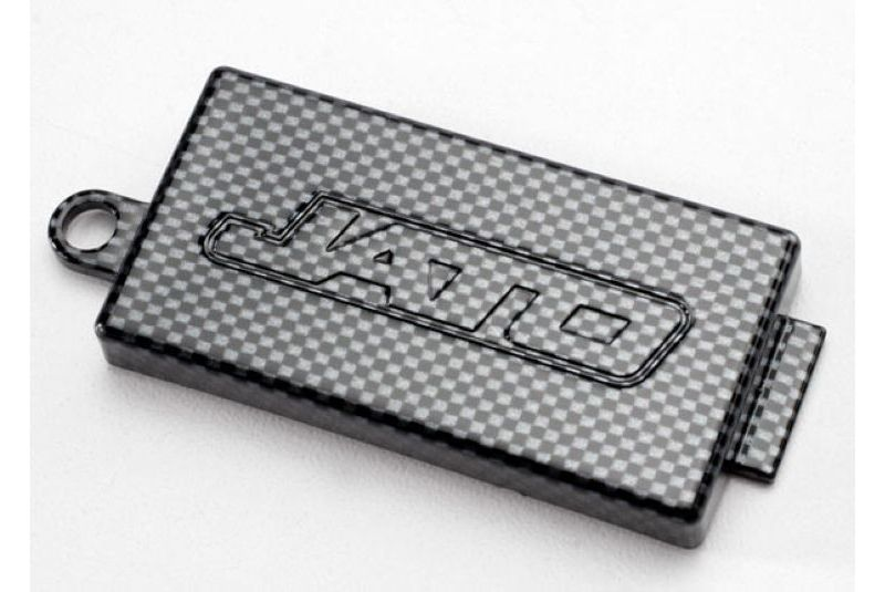 TRAXXAS запчасти Receiver cover (chassis top plate), Exo-Carbon finish (Jato) TRA5524G