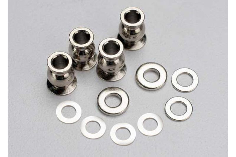 TRAXXAS запчасти Shim set, 3x7x1mm (2), 3x6x0.5mm (4), 3x7x2mm (2)/ hollow balls, captured (4) TRA5529